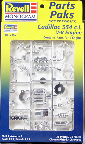 Image result for Revell cadillac engine parts pack
