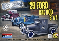 """Revell/Monogram 1929 Ford Model """"A"""" Closed Cab or Roadster Pickup Rat Rod, 3 Building Options"""
