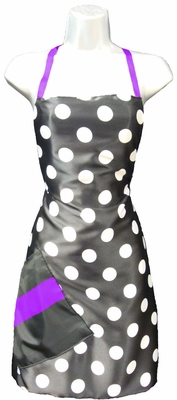 Salon Apron Big Dot + Purple