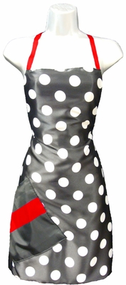 Salon Apron Big Dot + Red