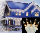 100 Miniature Christmas Icicle Lights (Clear)