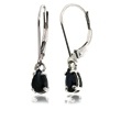 14 Karat White Gold and Sapphire Earrings