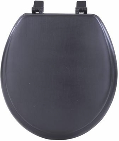 "17"" Round Soft Toilet Seat (Black)"