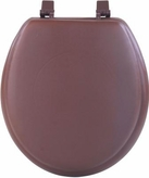 "17"" Round Soft Toilet Seat (Brown)"