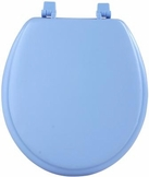 "17"" Round Soft Toilet Seat (Light Blue)"