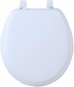 "17"" Round Soft Toilet Seat (White)"