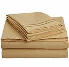 2 Line Embroidered Sheet Set  (Gold)