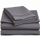 2 Line Embroidered Sheet Set  (Grey)