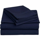 2 Line Embroidered Sheet Set (Navy Blue)