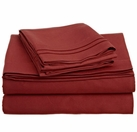 2 Line Embroidered Sheet Set  (Red)