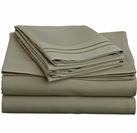 2 Line Embroidered Sheet Set  (Taupe)