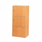 3-Tier Storage Cubby with Doors (Beech)