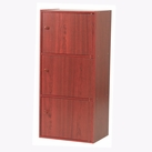 3-Tier Storage Cubby with Doors (Mahogany)
