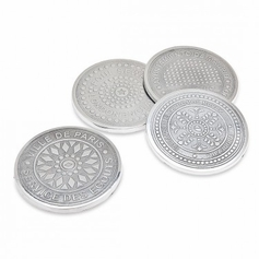Set of 4 Euro Cities Manhole Coasters