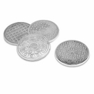 Set of 4 Usa Cities Manhole Coasters