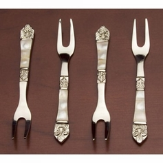 4pc Mother Of Pearl Fork Set