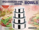 4 Piece Stainless Steel Mixing Bowls