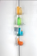 4 Tier Corner Tension Shower Caddy