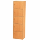 5-Tier Storage Cubby with Doors (Beech)