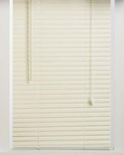 64 Inch Alabaster Vinyl Mini Blinds