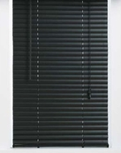64 Inch Black Vinyl Mini Blinds