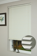 64 Inch White Vinyl Mini Blinds