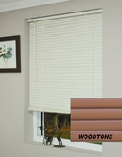 64 Inch Woodtone Vinyl Mini Blinds