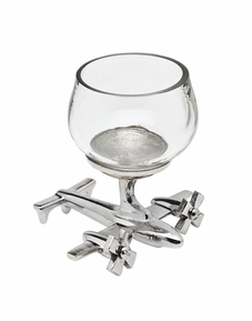 Airplane Base Shot Glass