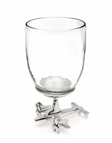 Airplane Base Wine Glass