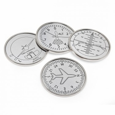 Set of 4 Airplane Coasters
