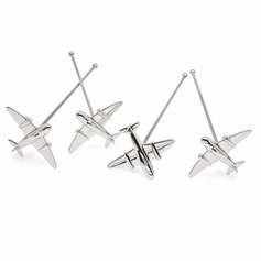 Set of 4 Airplane Stirrers