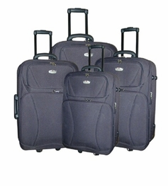 4 Piece Luggage Set (Black)