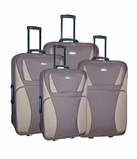 4 Piece Luggage Set (Brown)