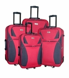 4 Piece Luggage Set (Red)