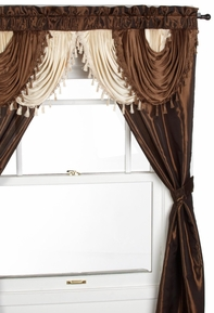 Amore Window Curtain Set (Chocolate Brown)