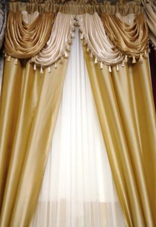 Amore Window Curtain Set (Gold)