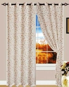 Anny Linen Look Curtain with Grommets (Beige)