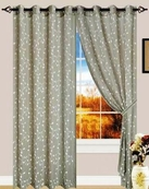 Anny Linen Look Curtain with Grommets (Sage Green)