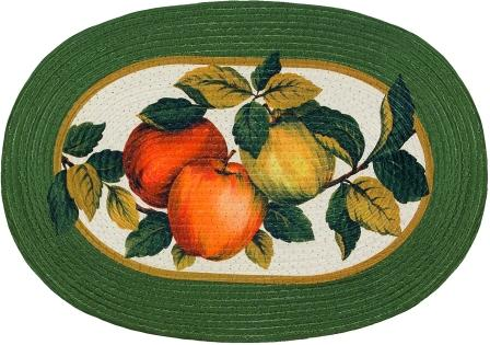 Apple Orchard 20″x30″ Oval Kitchen Rug