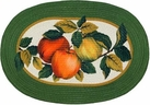 "Apple Orchard 20""x30"" Oval Kitchen Rug"