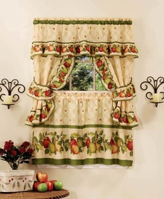 Apple Orchard Kitchen Curtain Set  [Available May 1st]