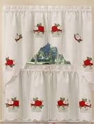 Apples Kitchen Curtain Set (White)