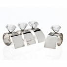 Set of 4 Arch Diamond Napkin Rings
