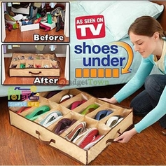 Under the Bed 12 Pair Shoe Organizer