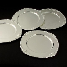 Set of 4 Baroque Chargers