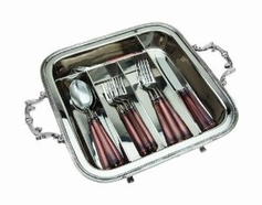 Beaded Edge Flatware Caddy