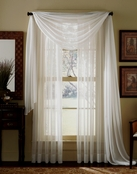Beige (Ivory) Sheer Curtain Scarf