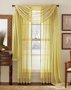 Beige Sheer Curtain Scarf