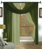 Bella 4 piece Window Set (Sage  & Green)