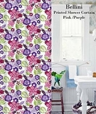 Bellini Printed Shower Curtain (Pink)